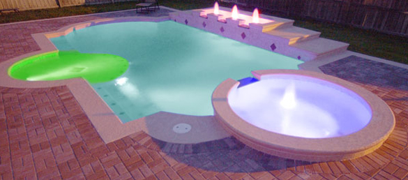 Iluminaci n con leds en las piscinas la web de los for Luces led piscina