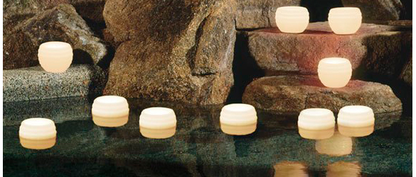 Detalle velas flotantes